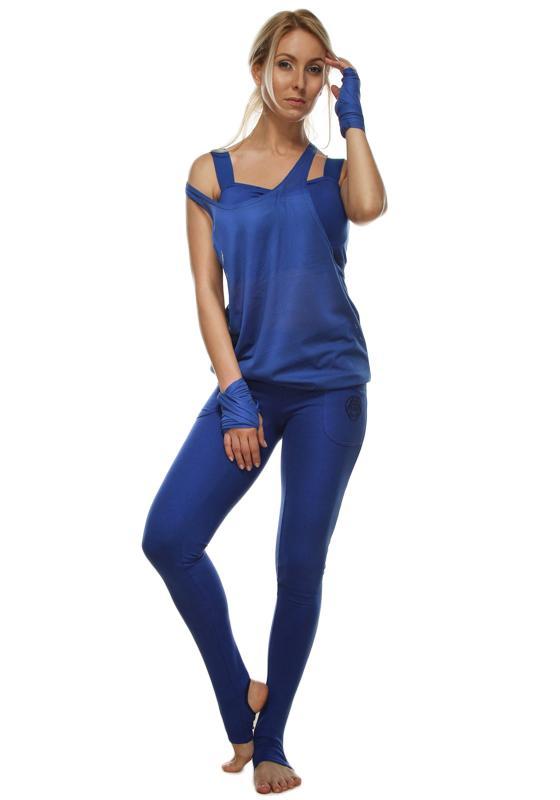 Фото Спортивная футболка синего цвета Аша