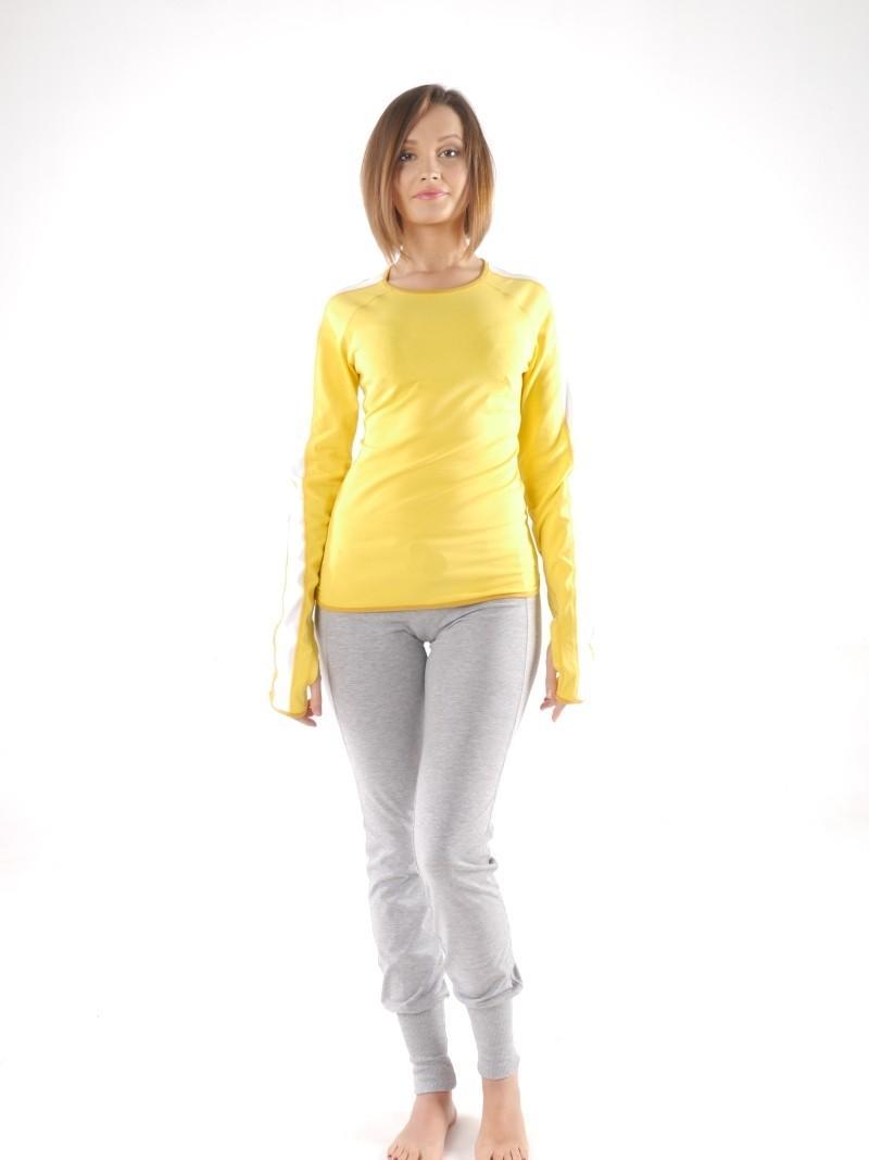 Фото 1 Женская футболка для йоги и фитнеса с длинным рукавом Трай