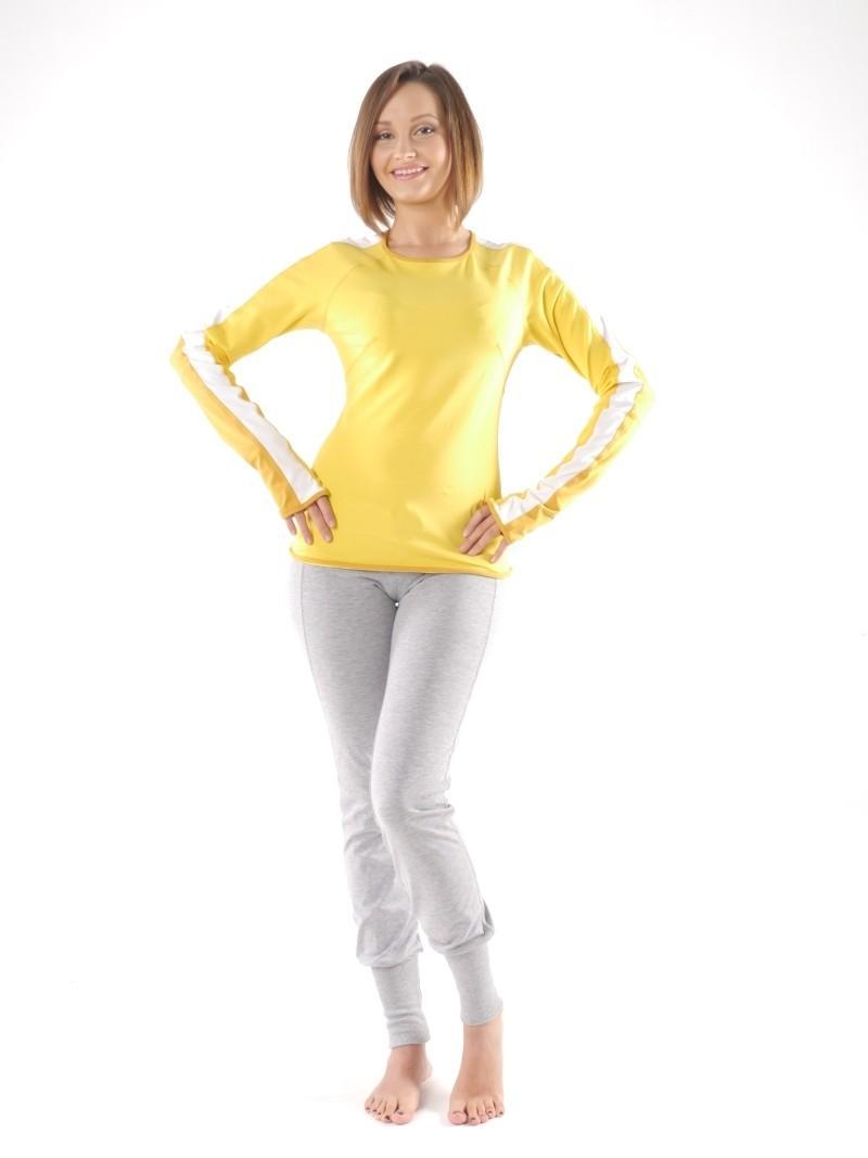 Фото 2 Женская футболка для йоги и фитнеса с длинным рукавом Трай