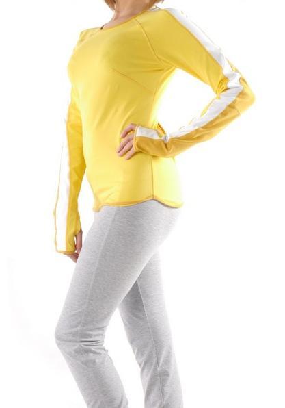 Фото Женская футболка для йоги и фитнеса с длинным рукавом Трай