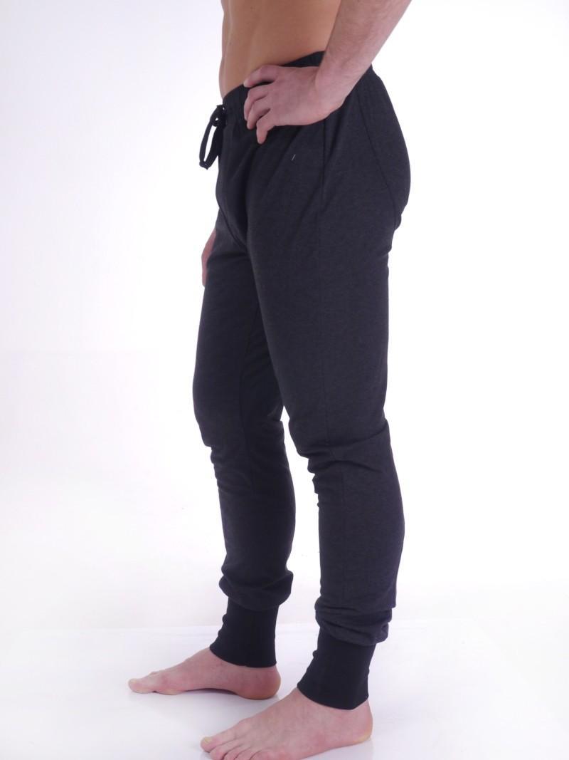 Фото 1 Штаны мужские для йоги, бега и фитнеса — Стиль ритма. Черный цвет