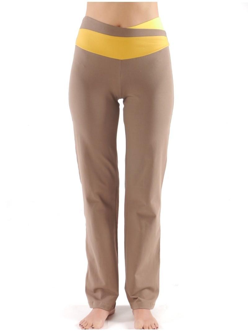 """Фото Штаны женские для йоги и фитнеса – """"Трини"""". Цвет коричневый"""