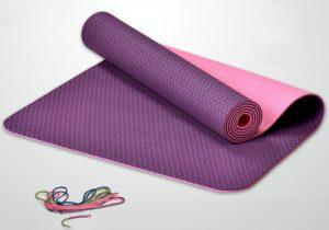 Йога-мат двухцветный толщиной 4 мм Легкий драйв