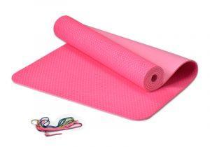 Розовый йога-мат толщиной 6 мм Идеальный комфорт