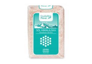 Розовая соль мелкого помола гималайская Crystalline Planet