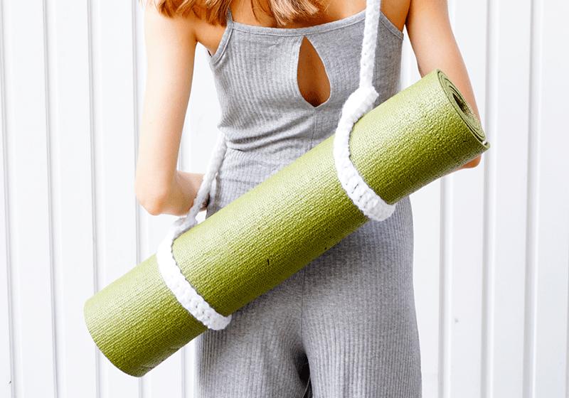 Фото 1 Вязаный ремень-стяжка для йога мата