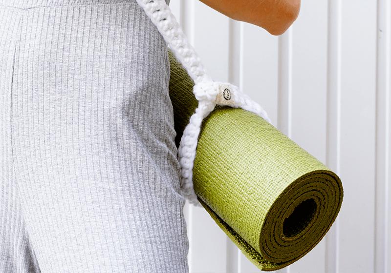 Фото 3 Вязаный ремень-стяжка для йога мата