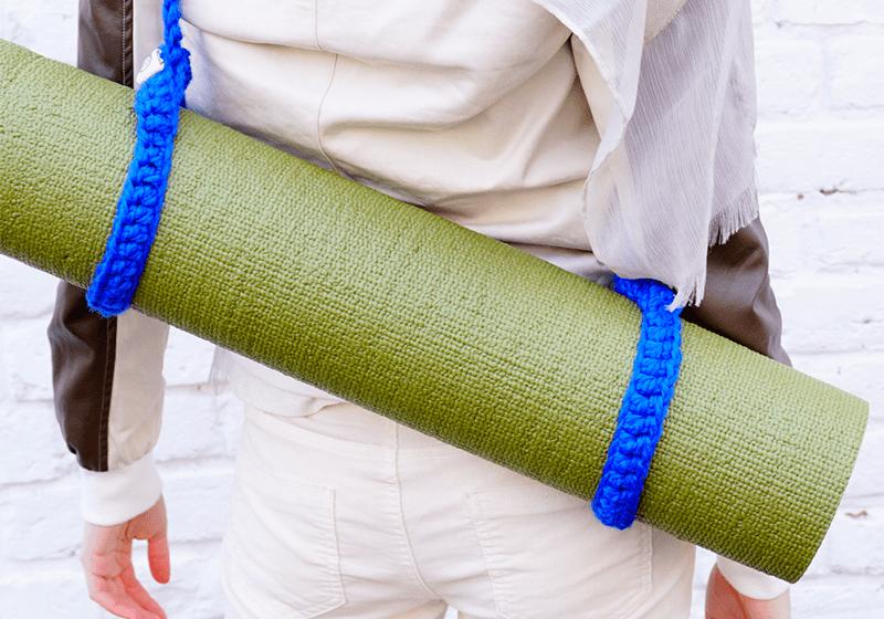 Фото 2 Вязаный ремень-стяжка на йога коврик