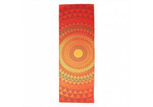 Оранжево-красное полотенце из микрофибры от Bodhi