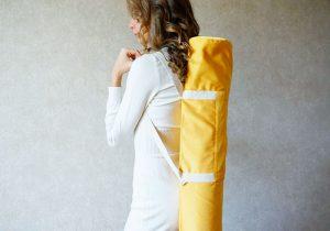 Желтый чехол без подкладки 67х16 см Foyo