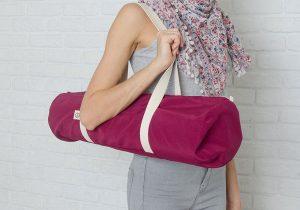 Сумка бордового цвета для йога-коврика Foyo