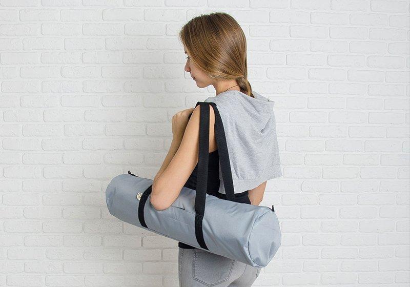 Фото 4 Серая сумка для йога-коврика Silver Foyo