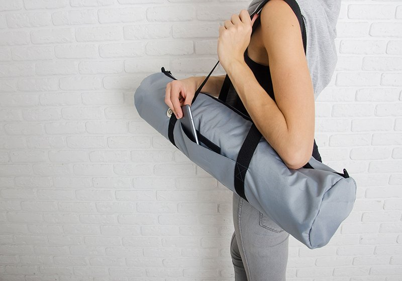 Фото 5 Серая сумка для йога-коврика Silver Foyo