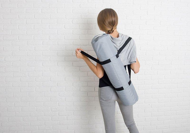 Фото 6 Серая сумка для йога-коврика Silver Foyo