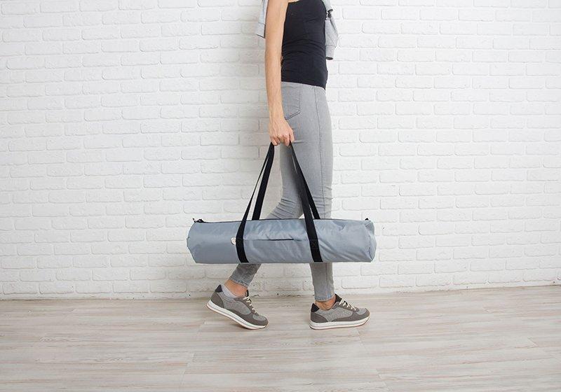 Фото 7 Серая сумка для йога-коврика Silver Foyo