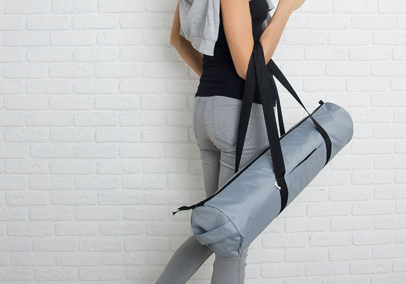 Фото 8 Серая сумка для йога-коврика Silver Foyo