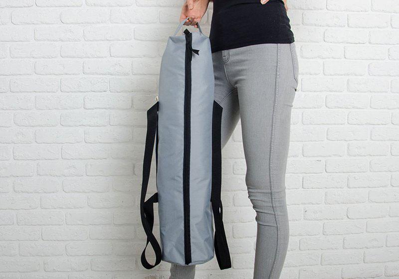 Фото 9 Серая сумка для йога-коврика Silver Foyo