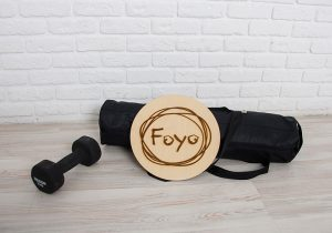 Сумка черного цвета для йога-матов Foyo