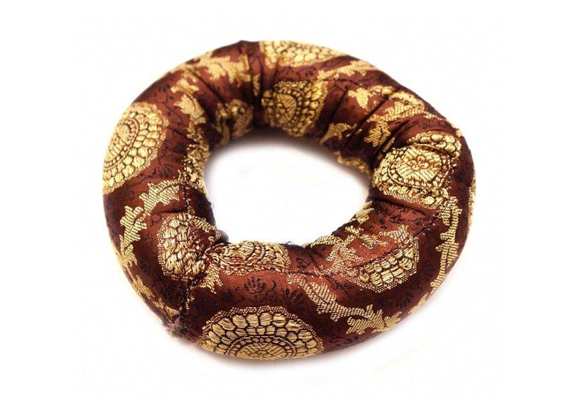 Фото Подушка под поющую чашу «Бублик» 12 см. Цвет коричневый
