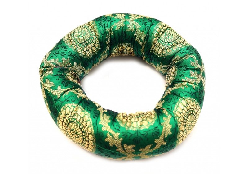 Фото Подушка под поющую чашу «Бублик» 15 см. Зеленый цвет