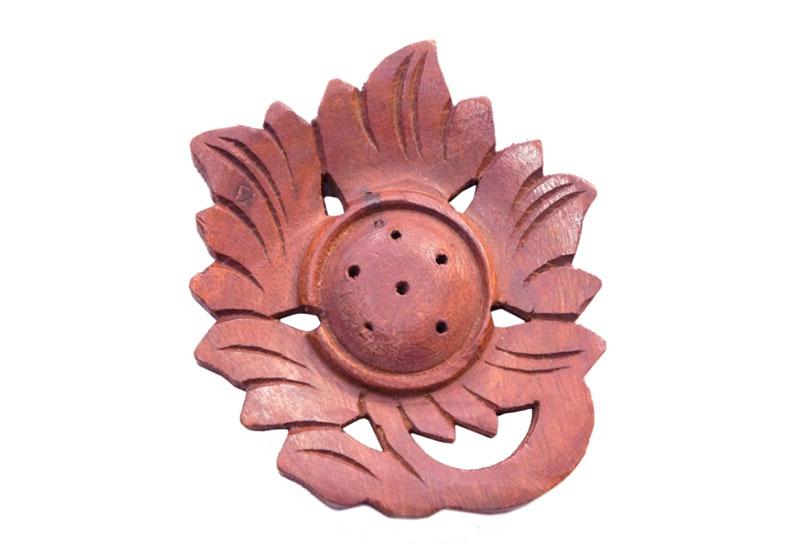 Фото Деревянная подставка под аромапалочки Цветок