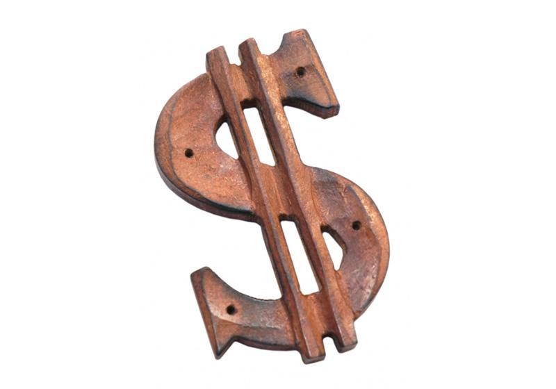 Фото Деревянная подставка под аромапалочки Доллар