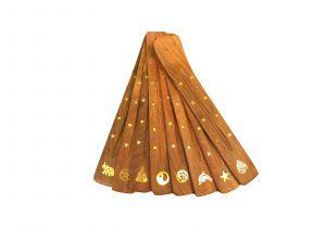 Лыжа - деревяная подставка под ароматические палочки
