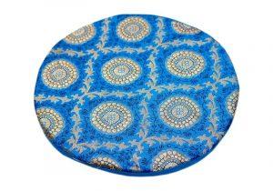 Подушка голубая под поющую чашу