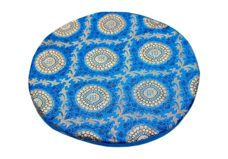 Фото Подушка под поющую чашу поролоновая – голубая 24 см