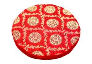 Красная подушка-подставка под поющую чашу