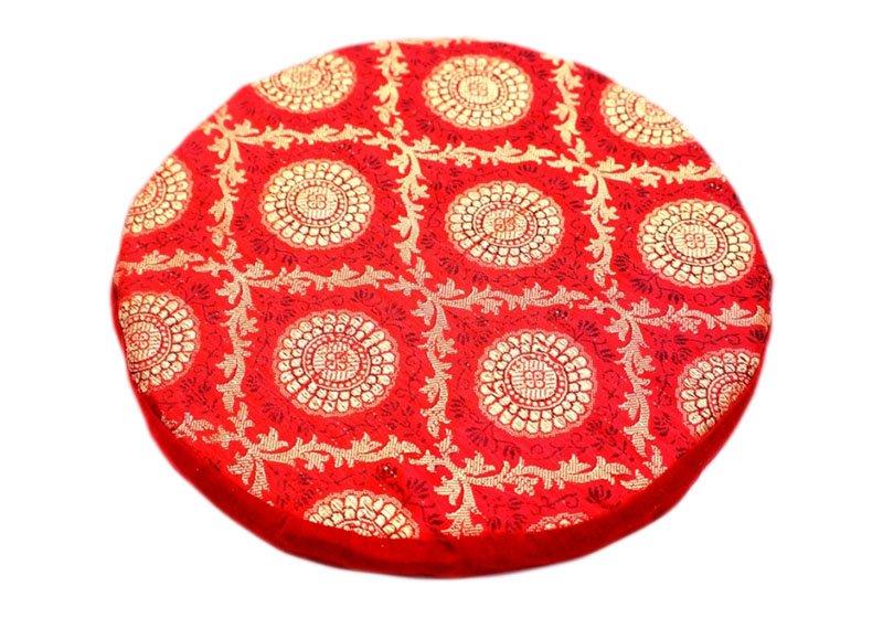 Фото Поролоновая красная подушка под поющую чашу 24 см