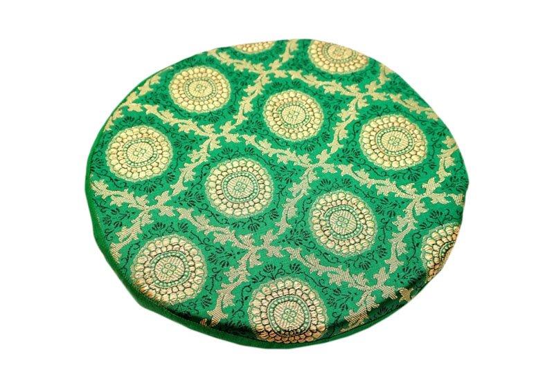 Фото Подушка под поющую чашу поролоновая 24 см. Зеленый цвет