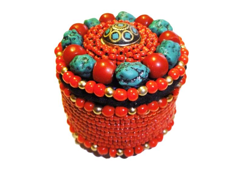 Фото Шкатулка для бижутерии и украшений — Тибет