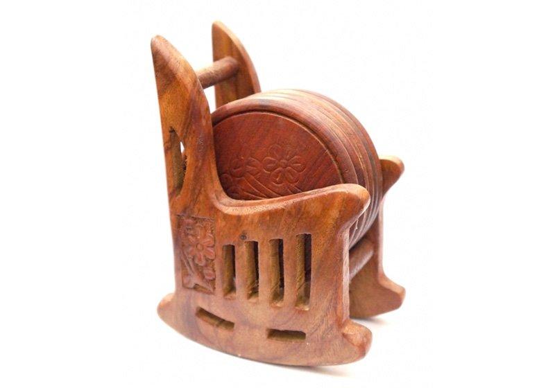 Фото Деревянная подставка под горячее Кресло, набор