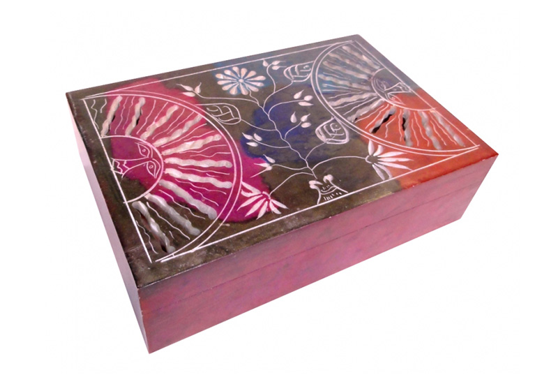 Фото Каменная шкатулка для украшений Два Солнца
