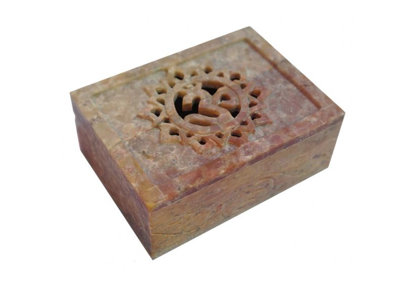Фото Каменная шкатулка для украшений Ом