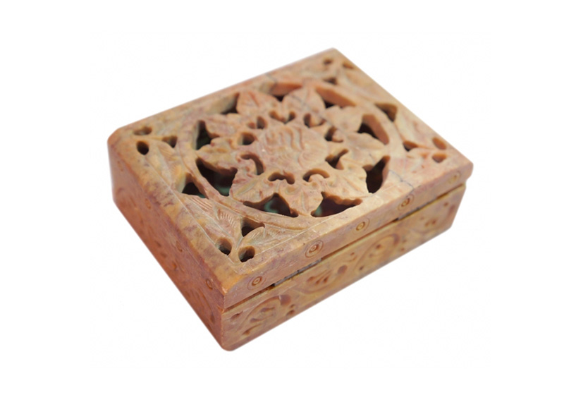 Фото Каменная шкатулка для украшений Цветок