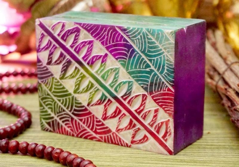 Фото 1 Каменная шкатулка для украшений Узор