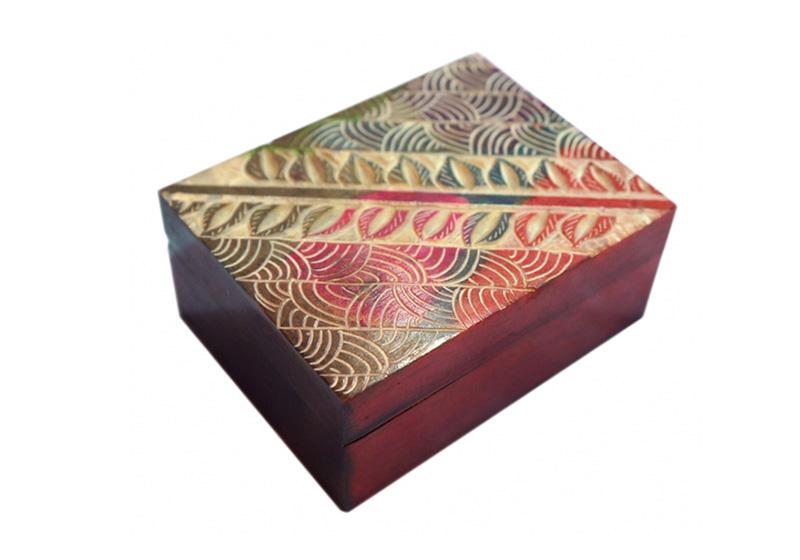 Фото Каменная шкатулка для украшений Узор