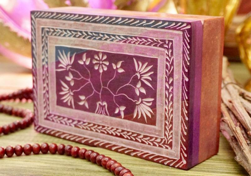 Фото 1 Каменная шкатулка для украшений Розовая