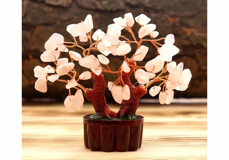 Фото Дерево Счастья Розовый Кварц 8 см