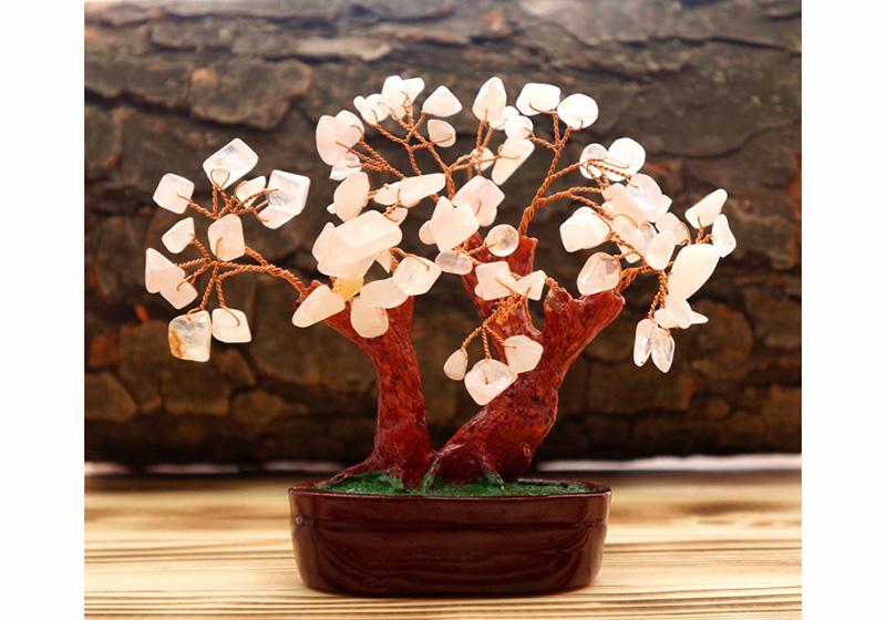 Фото Дерево Счастья Розовый Кварц 11 см