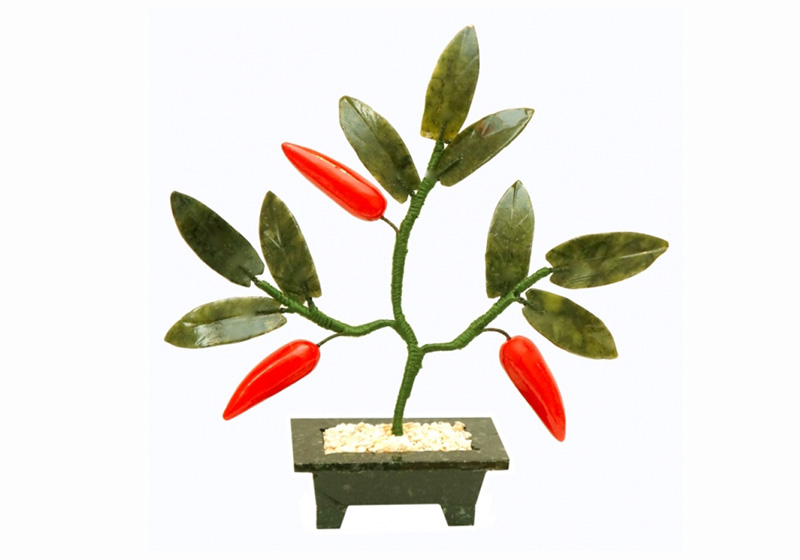 Фото Дерево с перчиками 3 плода 15см