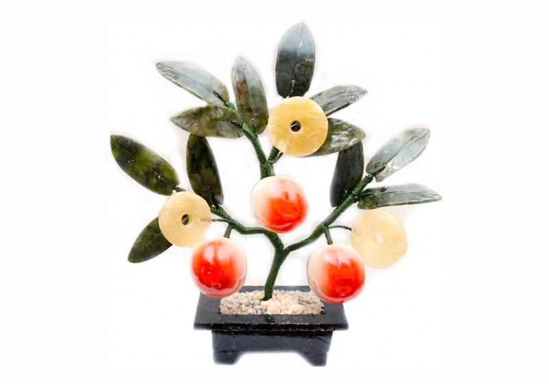 Фото Дерево 3 персика и 3 монеты, 20 см