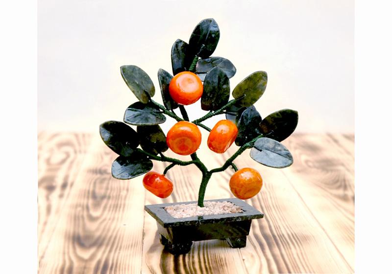 Фото Мандариновое дерево 5 плодов 20 см