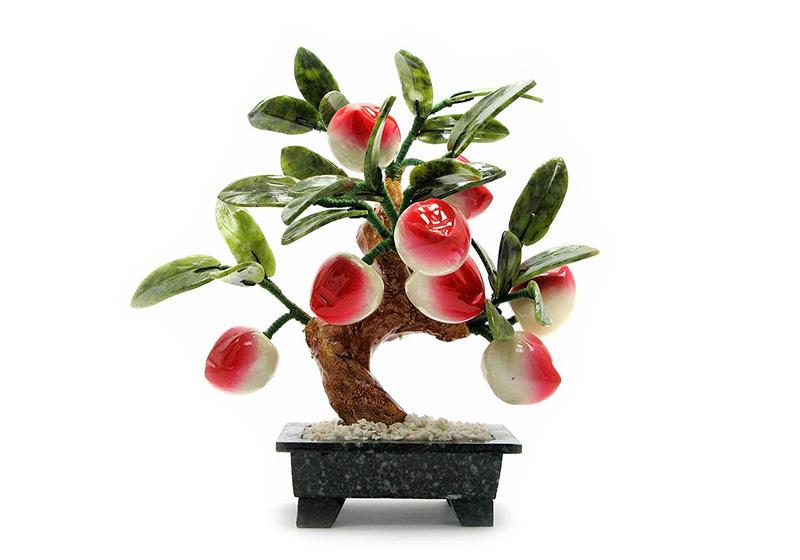 Фото Персиковое дерево 8 плодов 30 см