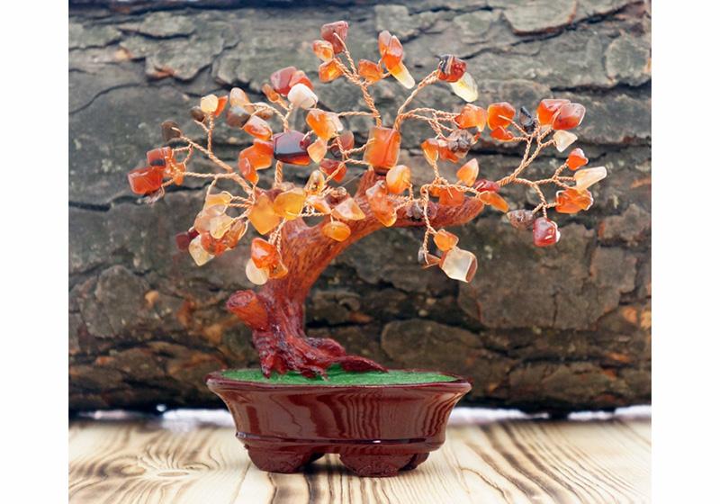 Фото Дерево Счастья Сердолик 12 см