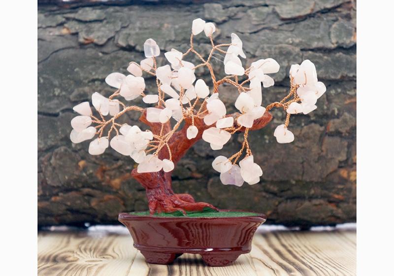 Фото Дерево Счастья Розовый Кварц 12 см