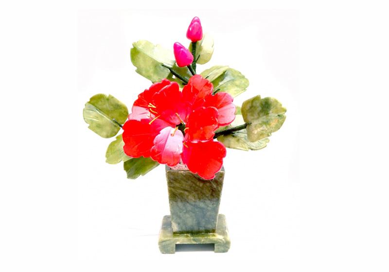 Фото Дерево цветок Пион и 1 бутон, 22 см