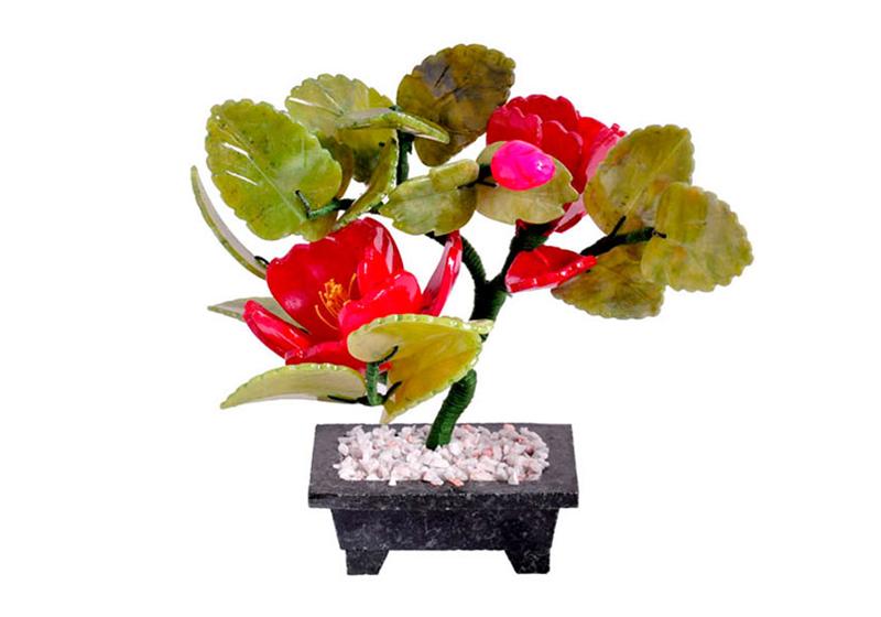 Фото 2 цветка Пион и 1 бутон, 20 см